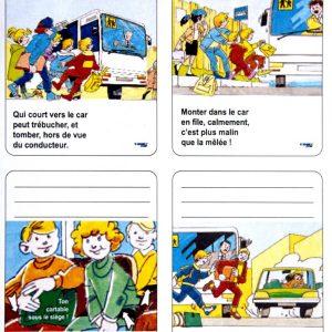 CAR – Planche de 4 (ou 8) stickers éducatifs à apposer sur livres et cahiers scolaires en septembre