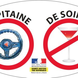 Stickers « Capitaine de soirée » textiles pour vêtement