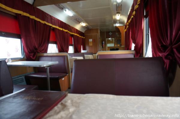 シベリア鉄道食堂車内画像