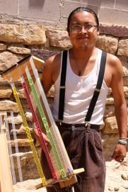 """Barnett """"Gooby"""" Garcia, storyteller and artist from Acoma Pueblo """"Sky City."""""""