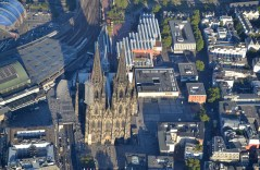 Cologne Cathedral and its surroundings.