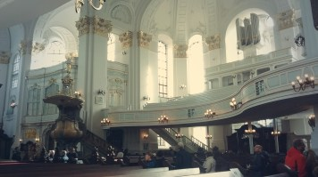 Inside Sankt Michaelis in Hamburg.