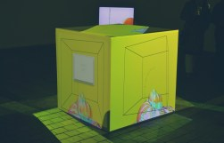 Five projections on a cube - a piece by artist zalar.