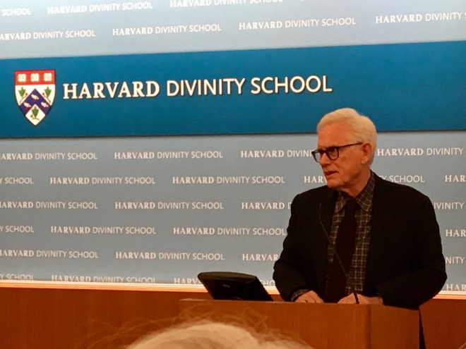 Barry M Andrews at the Harvard Divinity School on a Panel discussing Henry David Thoreau's Religion