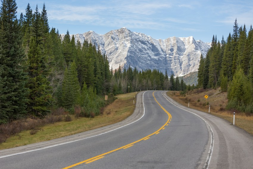 Highway 40 in Kananaskis Country, Alberta