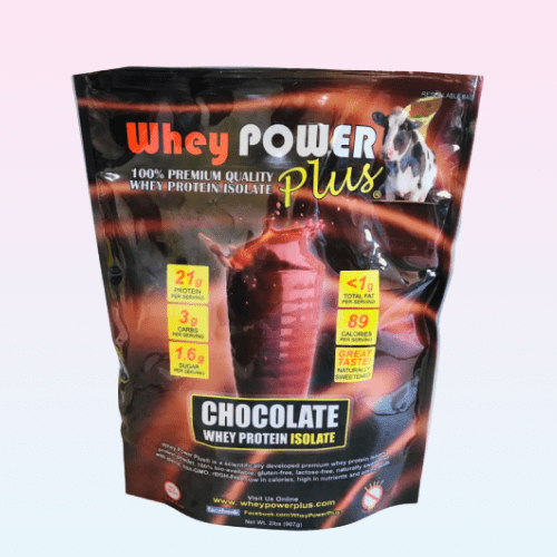 Whey Power Plus® Chocolate Whey Protein Isolate