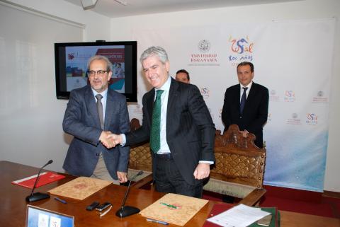 Firma convenio Parque Científico - EspañaDuero