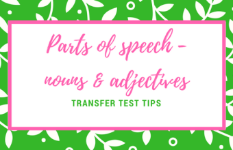 AQE English parts of speech nouns adjectives