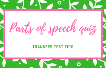 AQE English parts of speech quiz