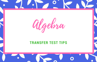 Transfer Test Tips AQE test maths algebra