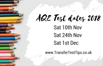 AQE test dates 2018 transfer test dates nov 2018