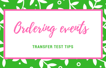 Order events AQE test English comprehension how to put event in order sequencing