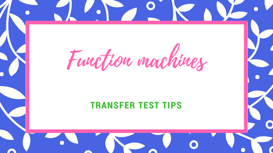 AQE test maths Function machines