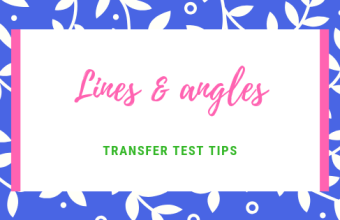 Lines and angles Transfer Test Tips AQE test maths