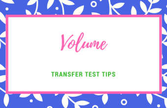 transfer test maths volume
