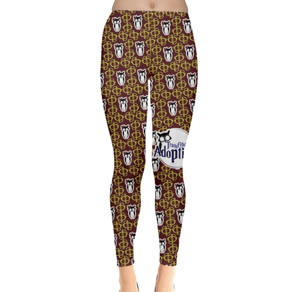 Red and Gold Pattern Leggings - Inspired by Gryffindor