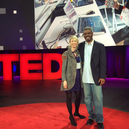 Amy Cuddy with Rev. Jeffrey at TED.