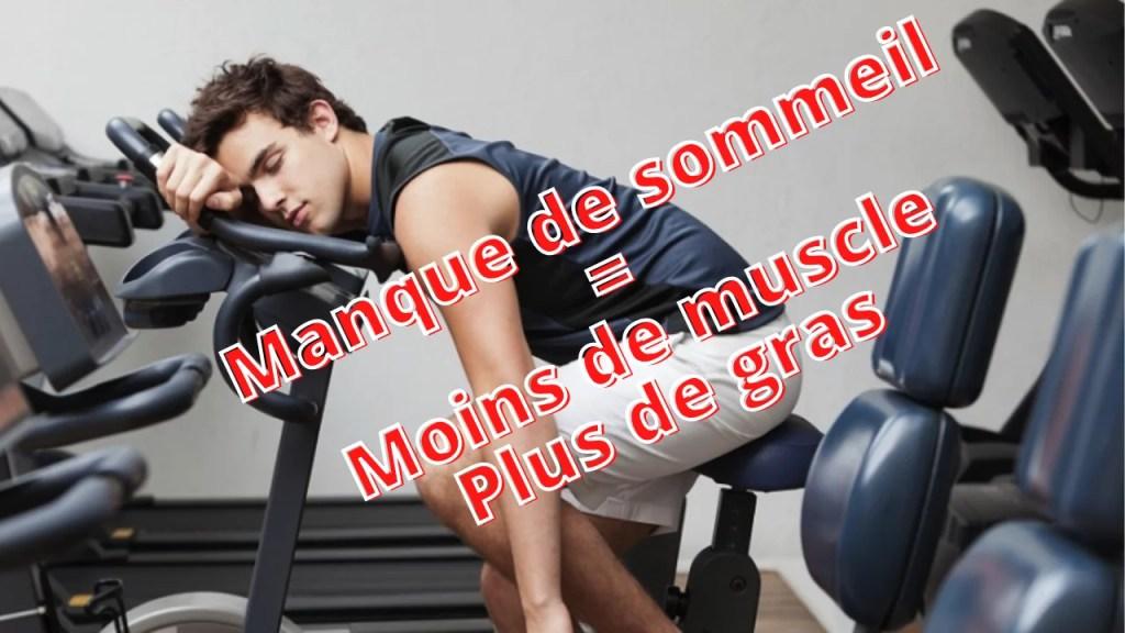Sommeil non réparateur entraine une perdre de muscle et une prise de gras