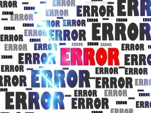 error, crash, problem