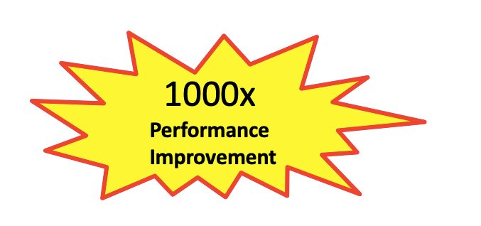 1000x performance improvement in yellow starburst