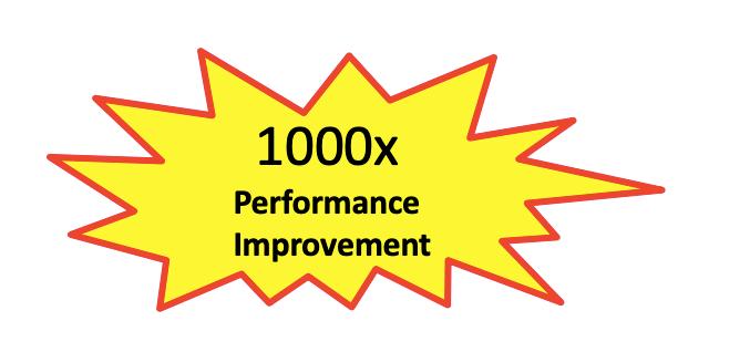 1000x performance improvement in yellow starburst