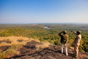 Rangers view Satpura National Park, India