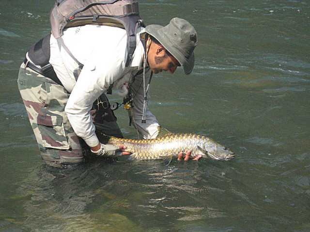 Golden Mahseer fishing in Bhutan