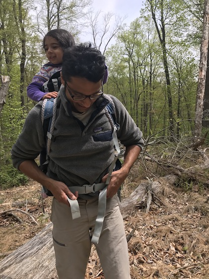 Anaiya and Misty hiking in the catoctin mountain ranges