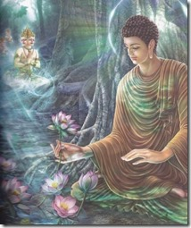 Bouddha et lotus