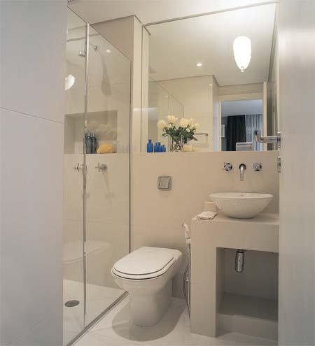 encontre a pia certa Banheiro Pequeno Decorado