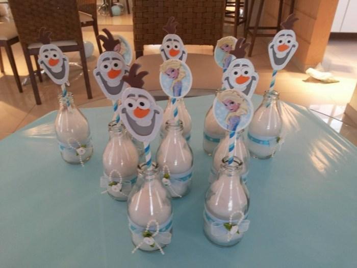 Decoração Frozen O salão e as mesas dos convidados