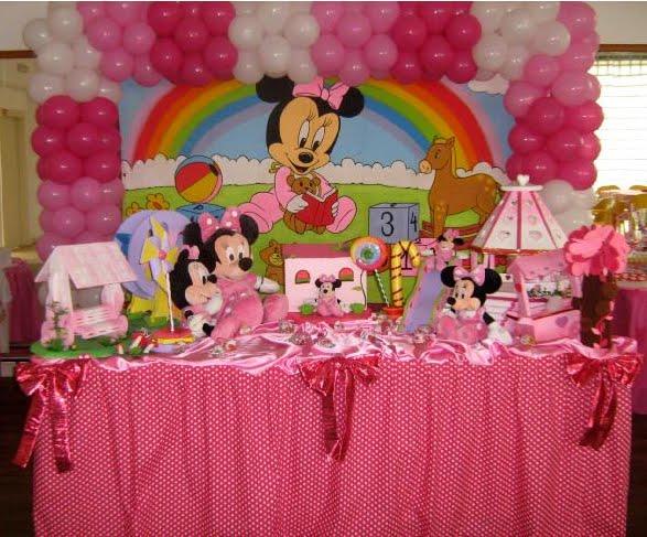Festa da Minnie e a escolha das cores