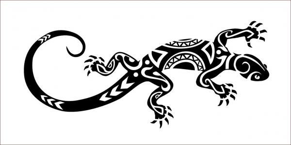 tatuagens Maori Lagarto ou Gecko