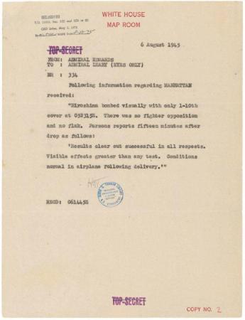 Hiroshima A-Bomb report ARC 595536