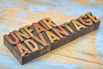 unfair advantage - vintage block letters