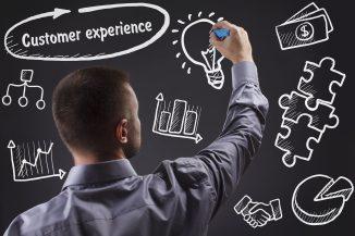customer experience chalkboard