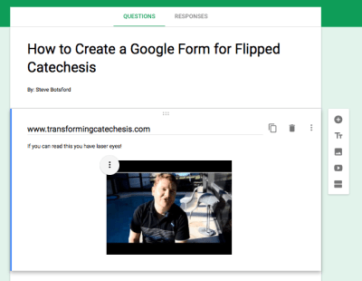How to Create a Google Form for Flipped Catechesis