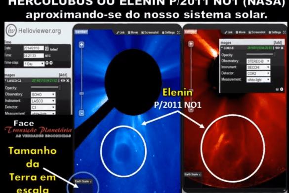 ANIMAÇÃO DE COMO O ELENIN P/2011 NO1 ESTÁ ALTERANDO O EIXO DA TERRA.