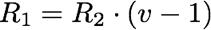 R1=R2*(v-1)