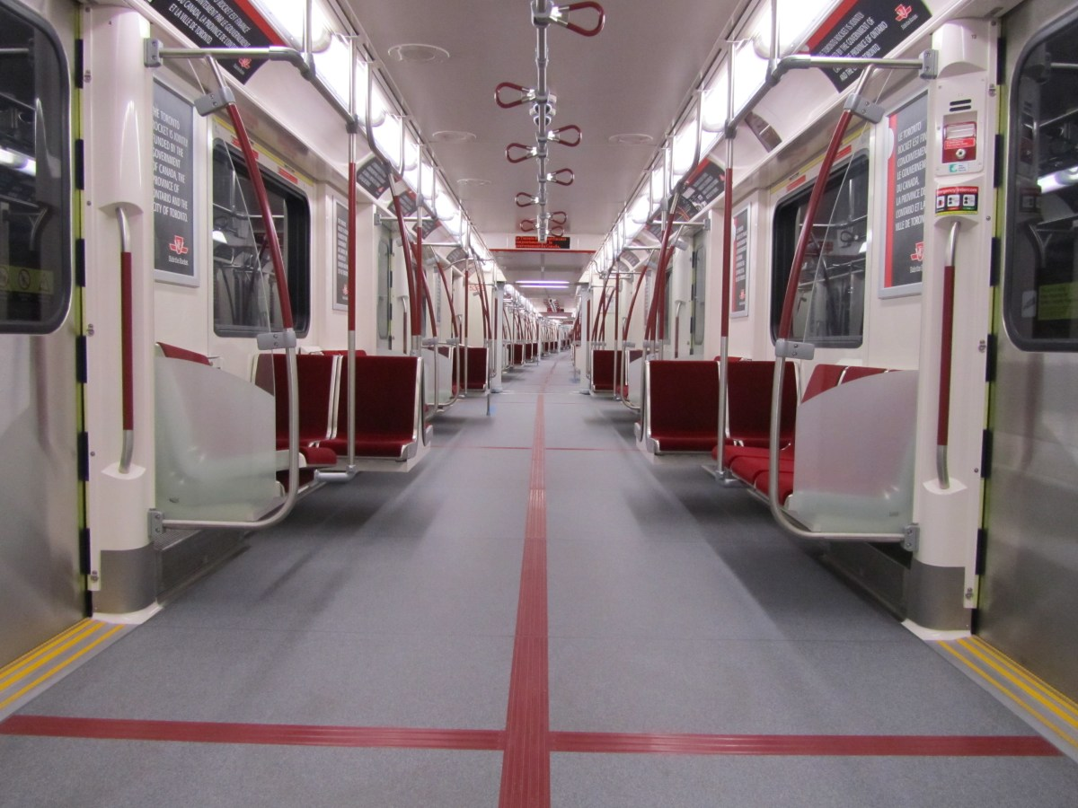 Image result for Inside a subway car in Toronto