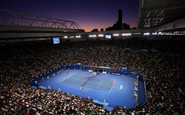 The Australian Open in action..