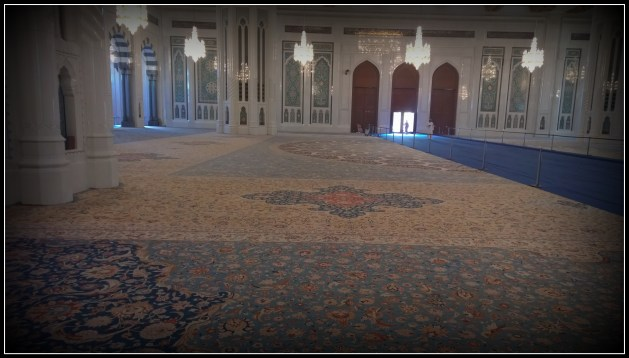 The exquisitely designed carpet..