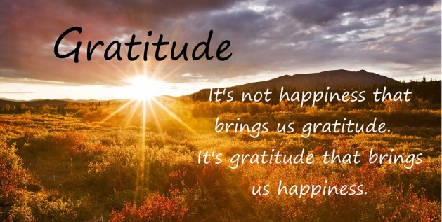 Expressing gratitude leads us to happiness