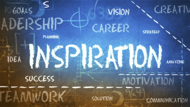 How should you get inspired?