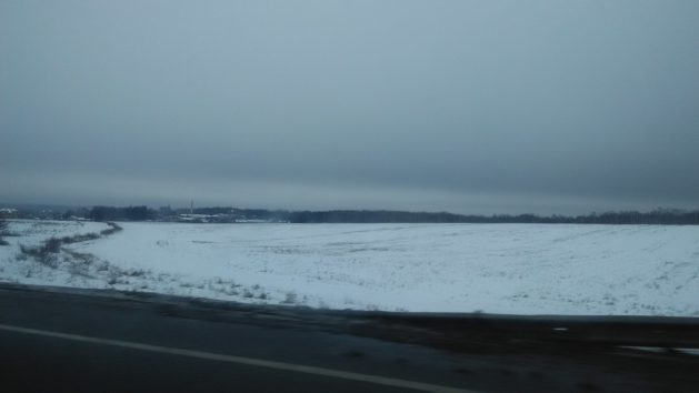 Snow as far as the eyes can see - Enroute to Domodedovo Airport, Moscow