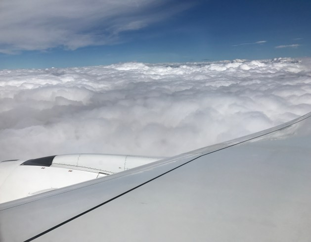 Flying amidst clouds
