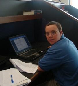 step Chris working on Resume