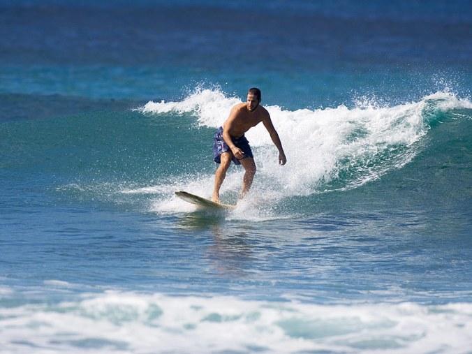 Scotty Smiley surfing