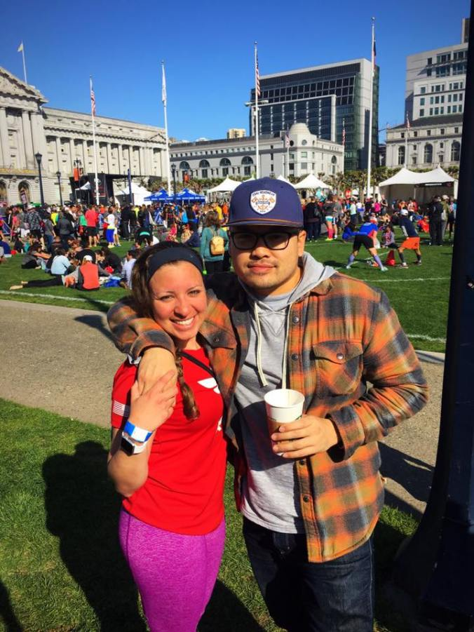 San Francisco Rock 'n' Roll Half Marathon Finish line
