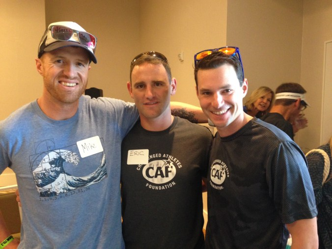 Meeting with Captain Eric McElvenny and Corporal Daniel Riley before Ironman 70.3 California.